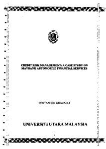 Dissertations [PDF]s - Banking & Finance - University of Malta