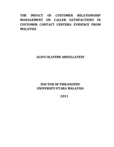 thesis on customer relationship management banking