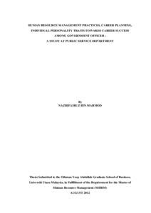 Dissertation on human resource planning