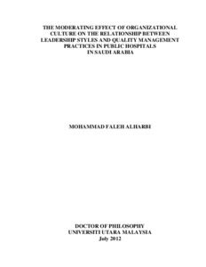 thesis on organizational culture and performance