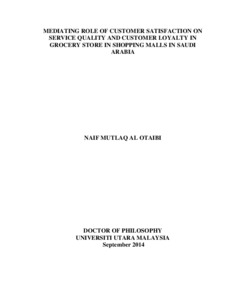 thesis on impact of service quality on customer satisfaction