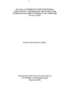 Emotional Intelligence - Dissertation Absracts